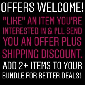 OFFERS WELCOME! ADD ITEMS TO YOUR BUNDLE